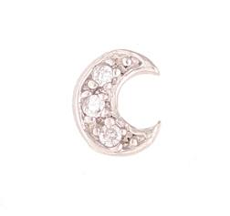 Moon - Silver & CZ Charm